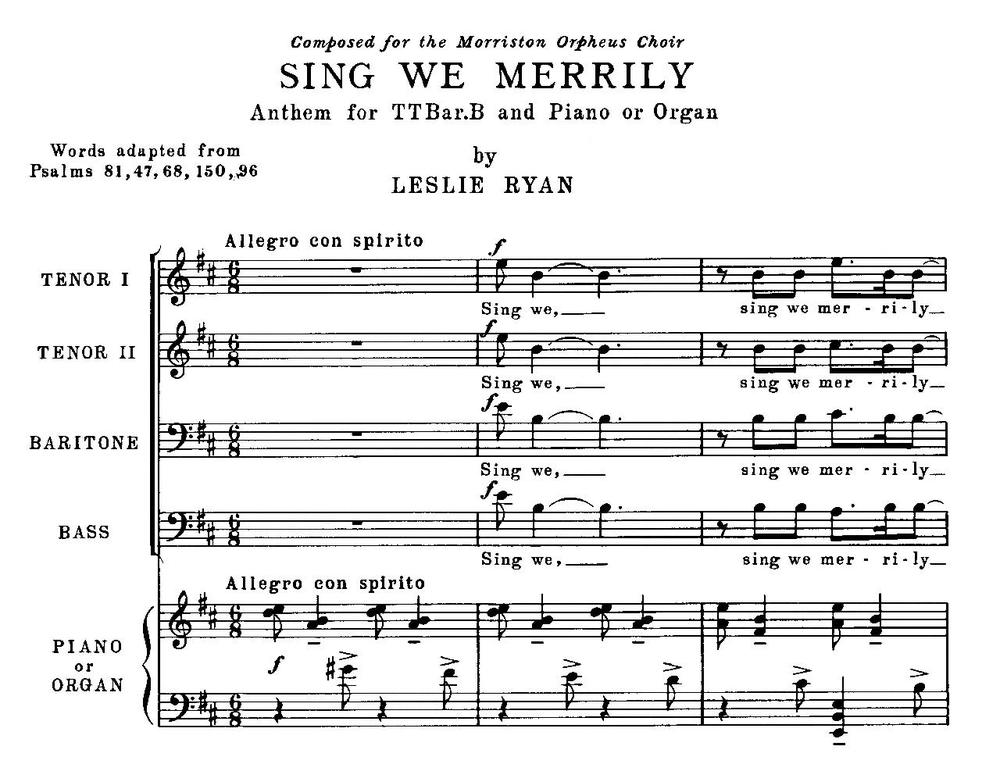 75 Years of Song - a brief history of the Morriston Orpheus