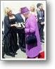 Joy presents the Queen with the latest CD
